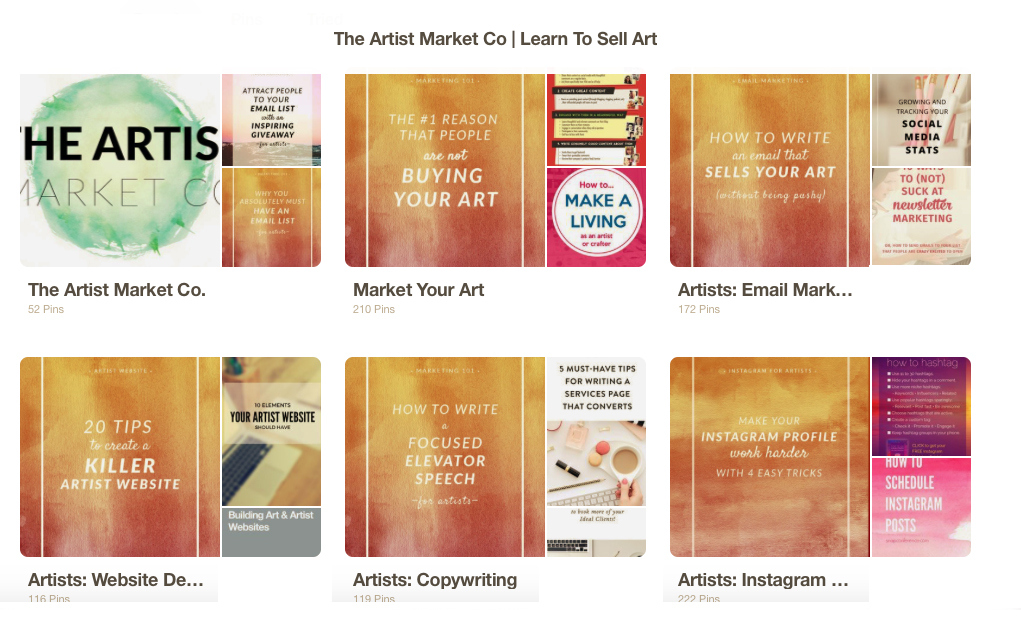 learn to sell art pinterest