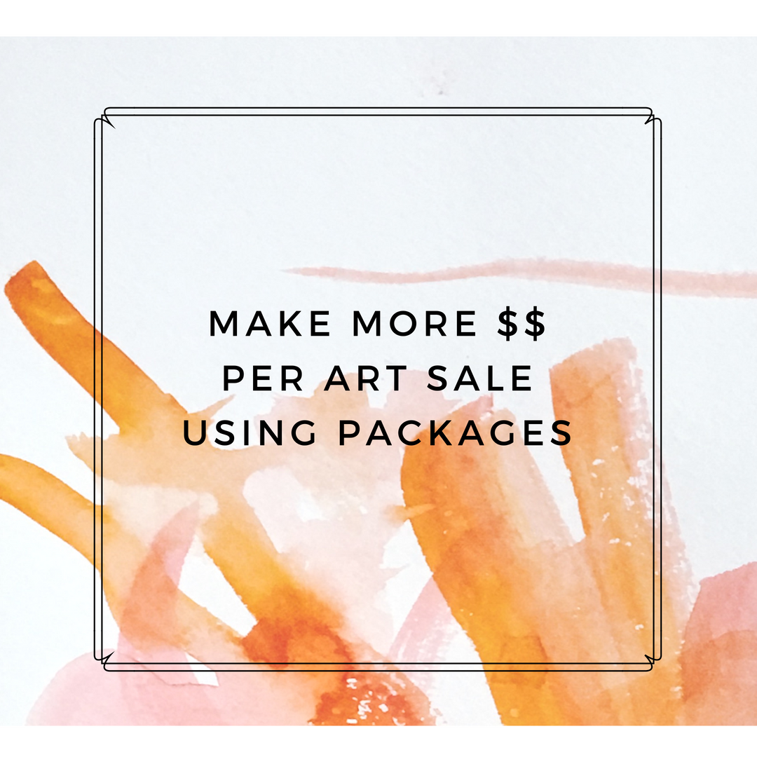 make more money per art sale using packages