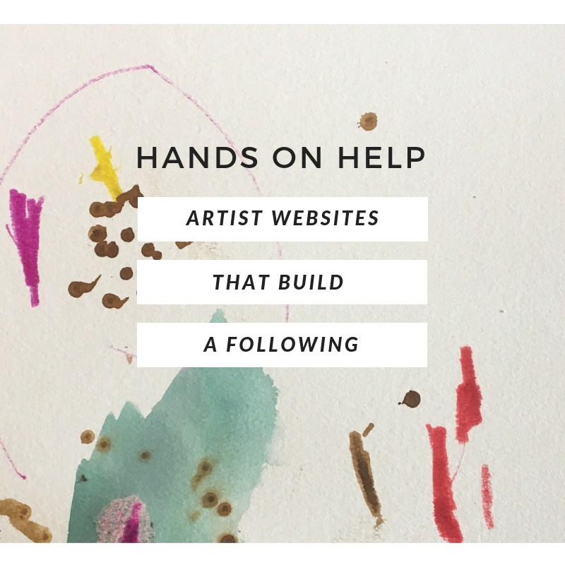 artist websites that build a following