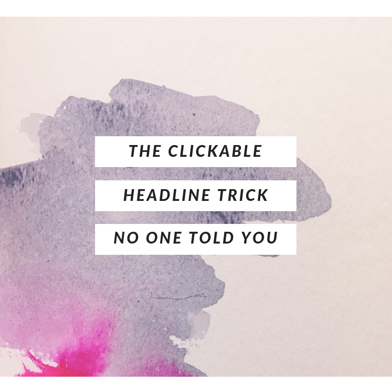 headline tricks for artists