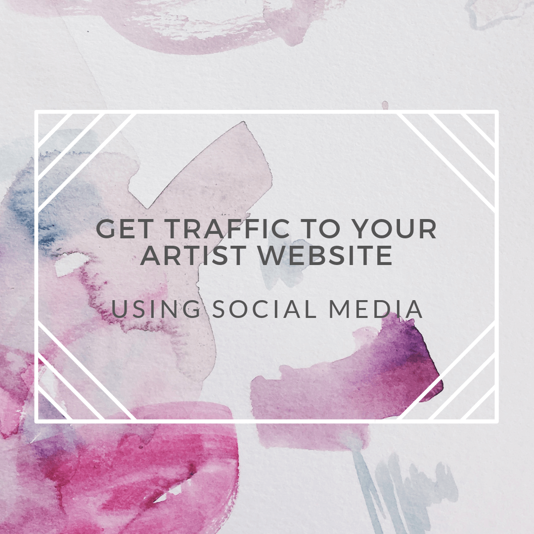 artist website traffic social media