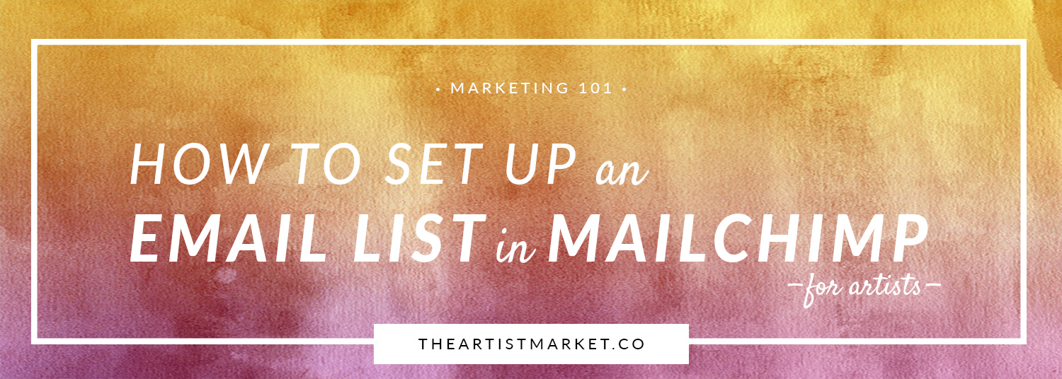how to set up an email list in mail chimp