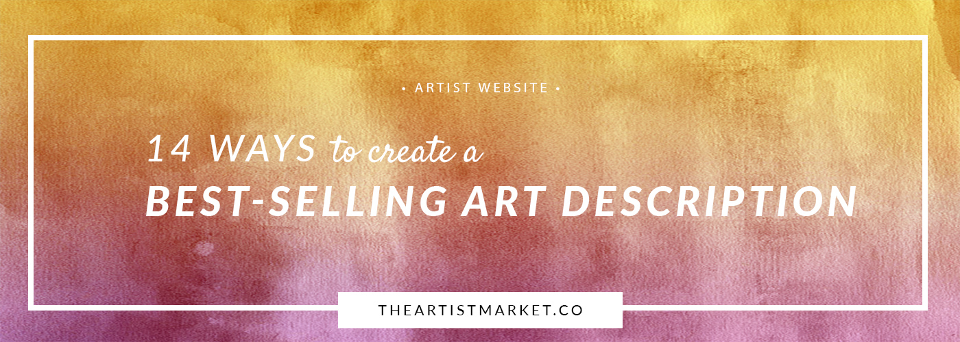 create a art product description to sell art on artist website