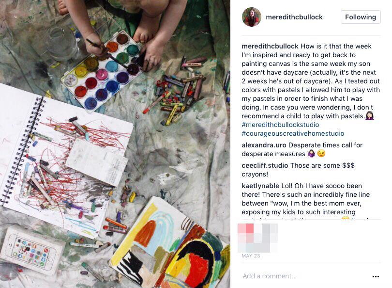 meredithcbullock_instagram caption_artist instagram growth