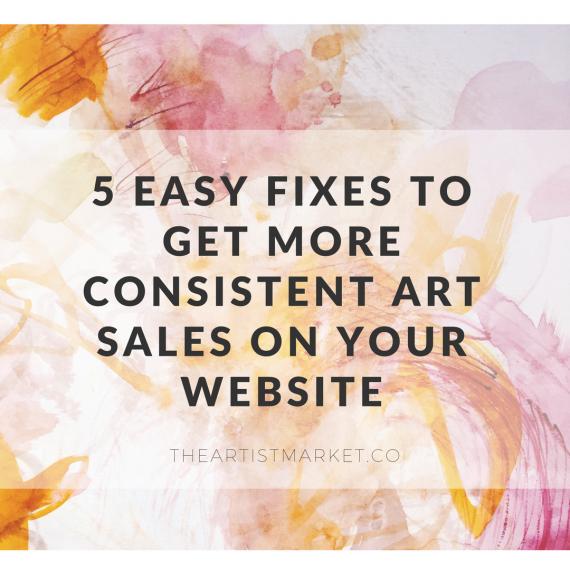 more consistent art sales