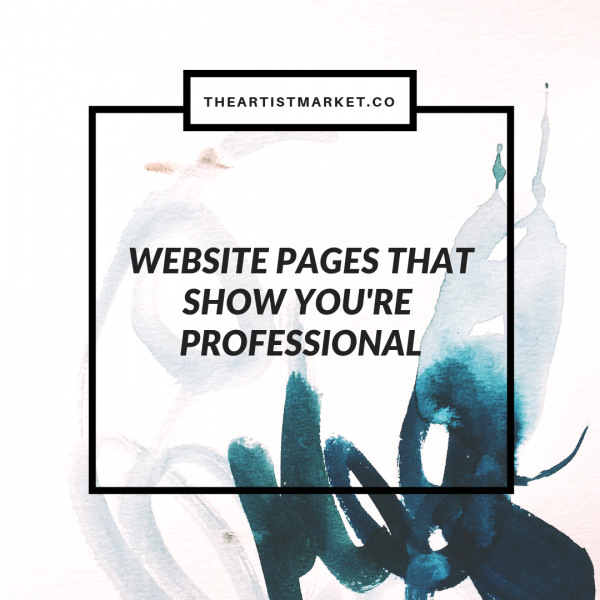 artist website pages that show you're professional
