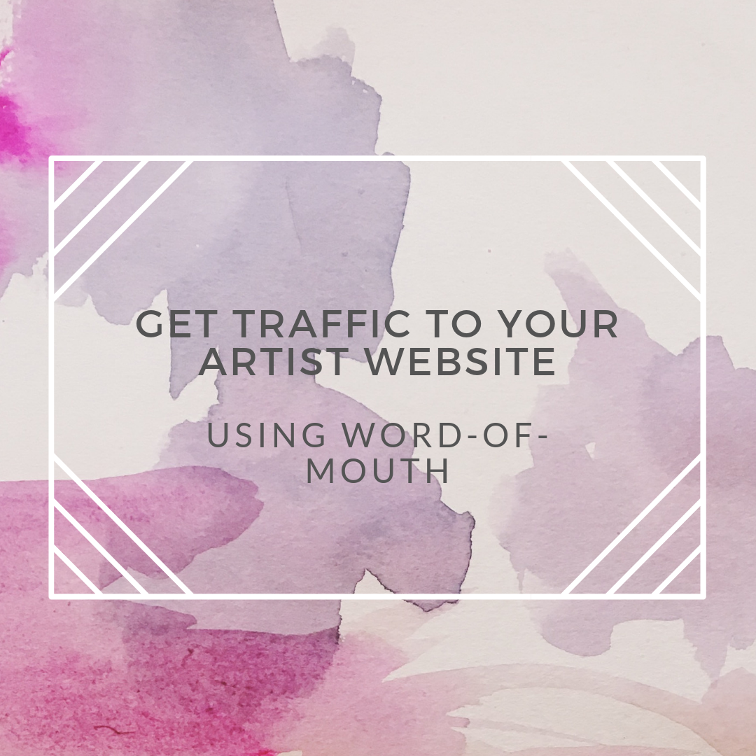artist website traffic word of mouth