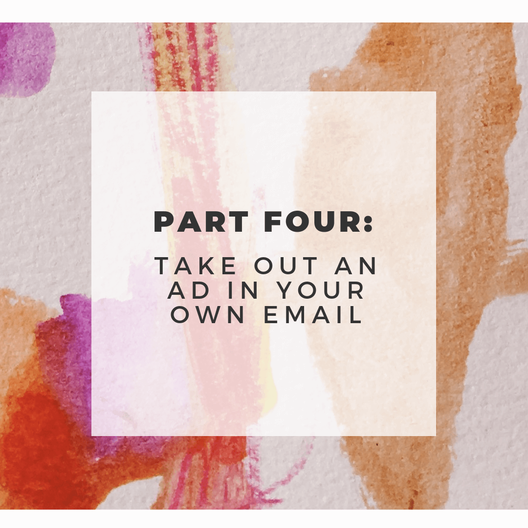 sell in your newsletter for creatives